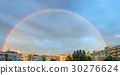 Rainbow over city 30276624