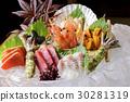 各种各样的生鱼片 30281319