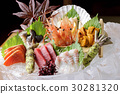 Assortment of sashimi 30281320