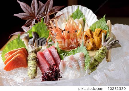 各种各样的生鱼片 30281320