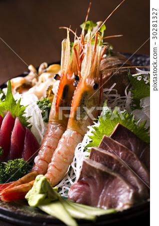 各种各样的生鱼片 30281327