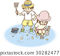 shellfish gathering, shell collecting, digging for shellfish 30282477