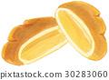 Hand-painted watercolor cream bread 30283060