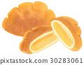 Hand-painted watercolor cream bread 30283061