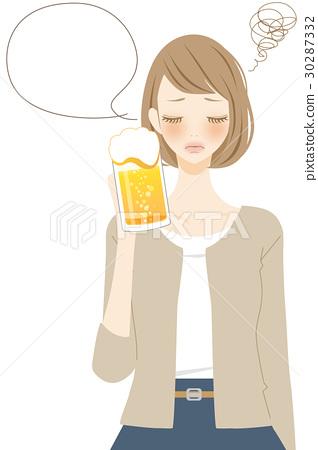 ผู้หญิงที่ดื่มเบียร์ที่น่าเบื่อ 30287332