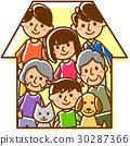 家庭3代的房子 30287366