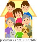 家庭3代的房子 30287602