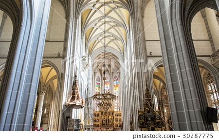 Interior of St. Elisabeth cathedral in Kosice 30287775