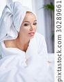 bathrobe, young, woman 30289661