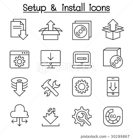 Setup , configuration,  Installation icon  30289867