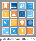 Technology digital sticker shadow icon vector 30290772