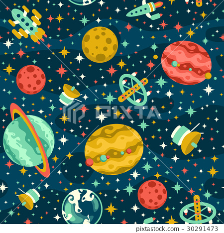 Seamless space pattern 30291473