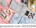 Fashion summer women clothes set with cosmetics 30291648