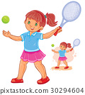 little girl tennis 30294604