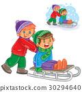 sled, vector, friend 30294640