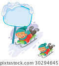 little, boy, sled 30294645