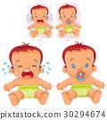 baby, vector, diaper 30294674