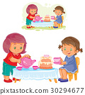 Vector illustration of two little girls are 30294677