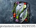 Fresh uncooked Dorado fish or sea bream 30295595