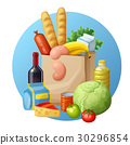 grocery, vector, cartoon 30296854