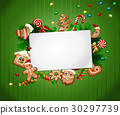 Vector illustration Christmas sweet background 30297739