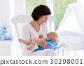 baby, mother, bedroom 30298001