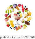 ice, cream, vector 30298268