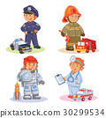 Set vector icons of small children different 30299534
