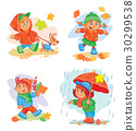 set of vector icons  small children 30299538