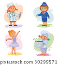 Set vector icons of small children different 30299571