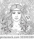 vector, girl, coral 30300389