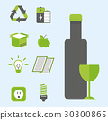 Recycling nature icons waste sorting environment 30300865