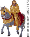 Medieval King Horseback 30304473