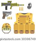 vector, military, gun 30306749