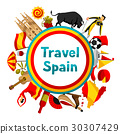 Spain background design. Spanish traditional 30307429