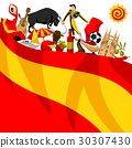 Spain background design. Spanish traditional 30307430