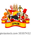 Spain background design. Spanish traditional 30307432