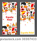 Spain banners design. Spanish traditional symbols 30307433