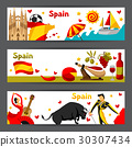 Spain banners design. Spanish traditional symbols 30307434