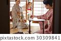 外国游客参观茶道 30309841
