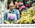 工作在花店的妇女 30310759