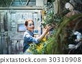 工作在花店的妇女 30310908