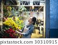 工作在花店的妇女 30310915