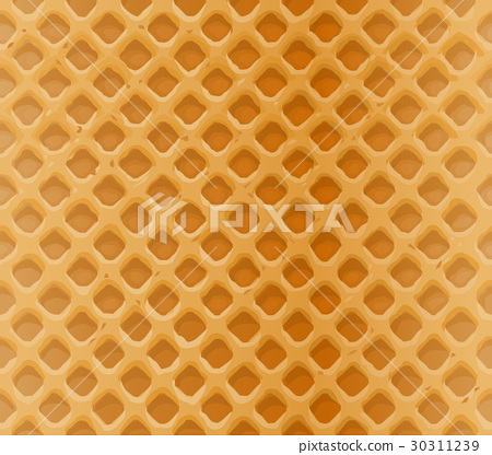Vector seamless pattern delicious waffles 30311239