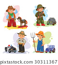 Set vector icons of small children different 30311367