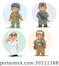 Set vector icons of small children different 30311388