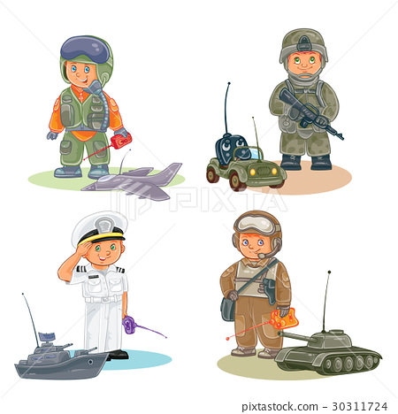 Set vector icons of small children different 30311724