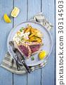 Tuna Steak with Home Fries 30314503