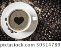 coffee cup and coffee beans 30314789
