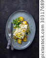 Coalfish with Fried Potatoes 30317689